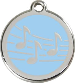 Muziek (1MU) Lichtblauw - Small 20mm