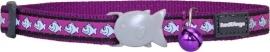Halsband Kat - Reflective Paars