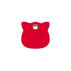 Kattenkopje Plastic (4CH) Rood