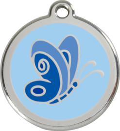 Vlinder Blauw (1BL) - Small 20mm