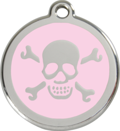 Scull & Bones (1XB) Roze - Small 20mm
