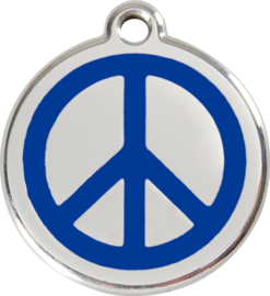 Peace (1PC) Donkerblauw - Small 20mm