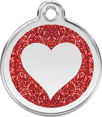 Hartje Glitter (XHT) Rood - Small 20mm