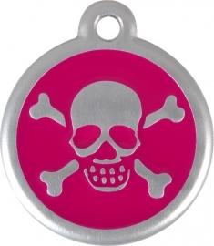 QR Scull & Bones - Hot Pink