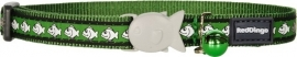 Halsband Kat - Reflective Groen