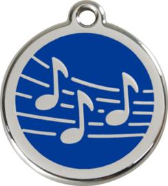 Muziek (1MU) Donkerblauw - Small 20mm