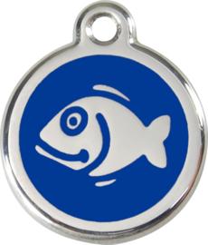 Vis (1FI) Donkerblauw - Small 20mm