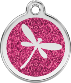 Dragon Fly Glitter Hot Pink (XFY) - Small 20mm