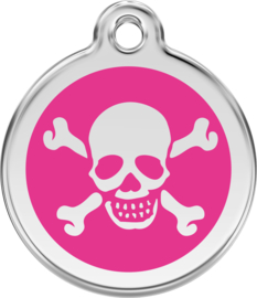 Scull & Bones (1XB) Hot Pink - Small 20mm