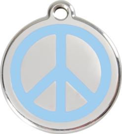 Peace (1PC) Lichtblauw - Small 20mm