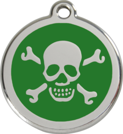 Scull & Bones (1XB) Groen - Small 20mm