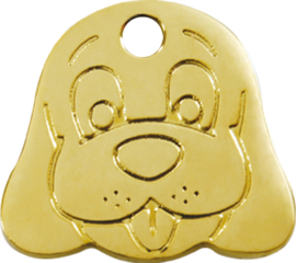 Hondenkopje Messing (3DF) - Small 22,2mm
