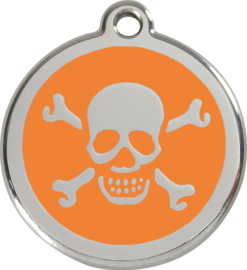 Scull & Bones (1XB) Oranje - Small 20mm