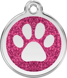 Pootafdruk Glitter (XPP) Hot Pink - Small 20mm