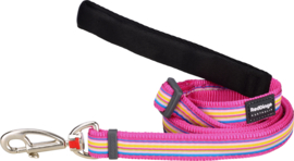 Hondenlijn - Horizontal Stripes Hot Pink
