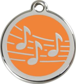 Muziek (1MU) Oranje - Small 20mm