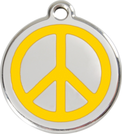 Peace (1PC) Geel - Small 20mm