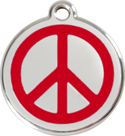 Peace (1PC) Rood - Small 20mm