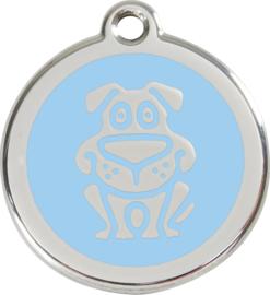 Hondje (1DG) Lichtblauw - Small 20mm