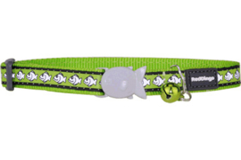Halsband Kat - Reflective Lime Green