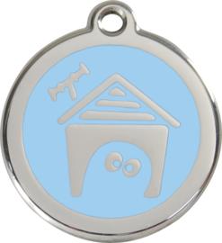 Hondenhok (1DH) Lichtblauw - Small 20mm