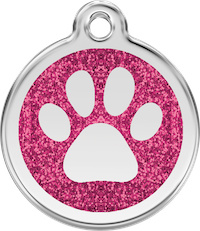 Pootafdruk Glitter (XPP) Hot Pink - Small 20mm