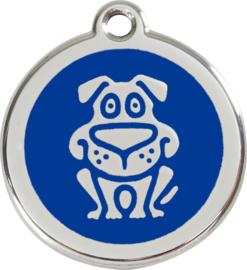 Hondje (1DG) Donkerblauw - Small 20mm