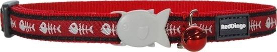 Halsband Kat - Fish Bone Red