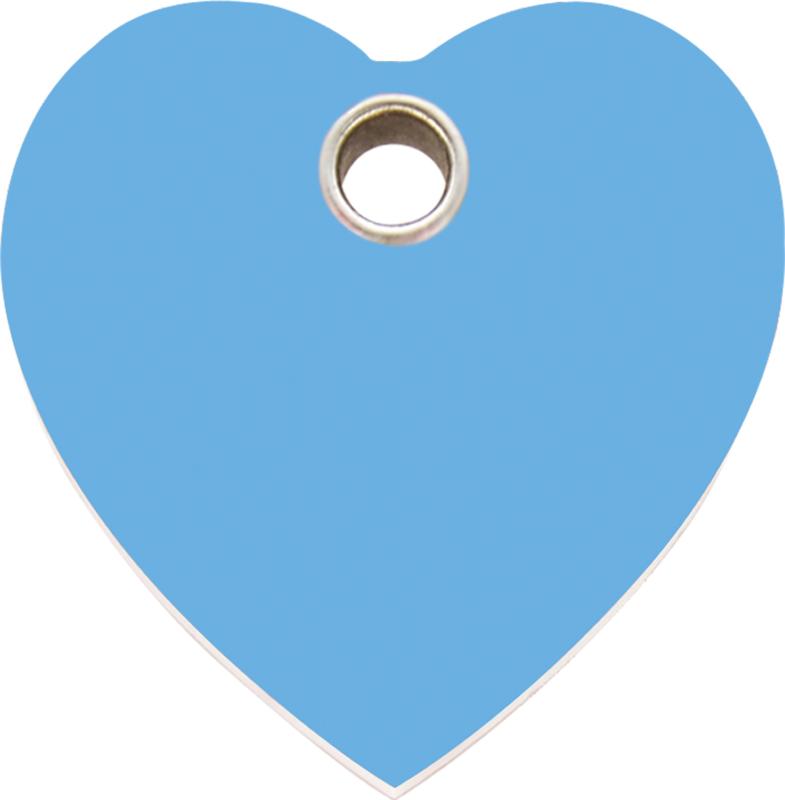 Hartje Plastic (4HT) Lichtblauw - Large 38mm