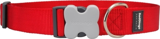 Halsband Hond - Rood (extra breed)