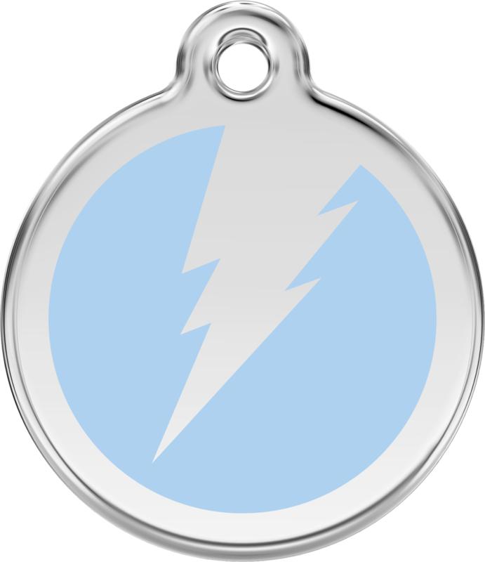 Bliksem (1ZF) Lichtblauw - Small 20mm