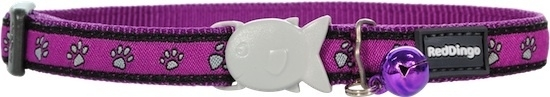 Halsband Kat - Paw Prints Purple