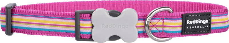 Halsband Hond - Horizontal Stripes Hot Pink