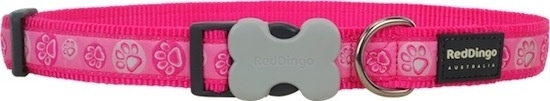 Halsband Hond - Paw Impressions Hot Pink
