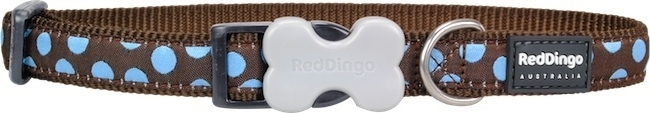 Halsband Hond - Blue Spots on Brown