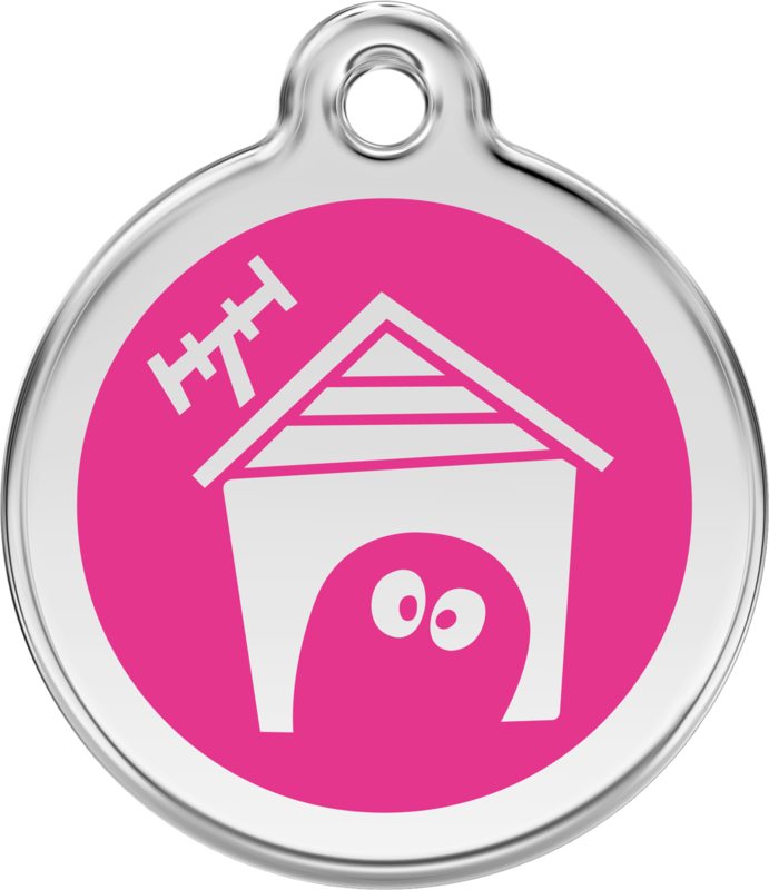 Hondenhok (1DH) Hot Pink - Small 20mm