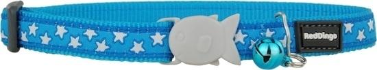 Halsband Kat - White on Turquoise