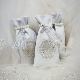 Henna buideltjes wit/zilver