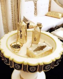 Hennaset ivoor/goud - TE HUUR
