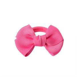 Haarelastiekjes: Met roze strik