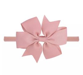 Haarbandje met strikoud roze