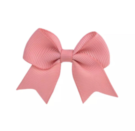 Haarspeldjes: oud roze strik