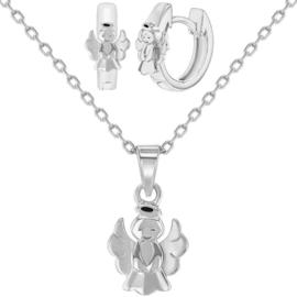 Zilveren set Engeltjes