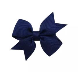 Haarspeldjes: navy blauwe strik