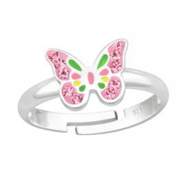 Zilveren kinderringen Vlinder