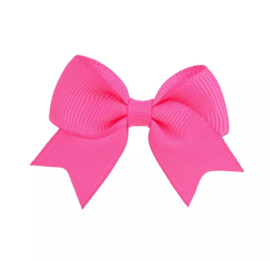 Haarspeldjes: roze strik
