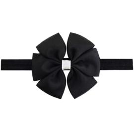 Haarbandje met strik zwart