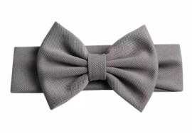 Haarbandje: met grote strik grijs