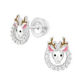 Zilveren kinderoorbellen Premium luxe collectie: krans
