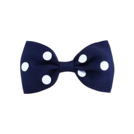 Haarspeldjes: Blauw met stip
